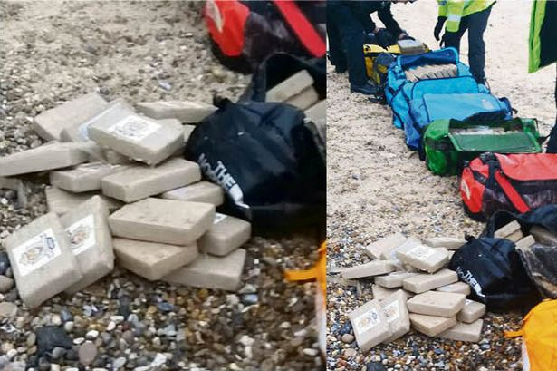 £50m worth of cocaine found washed up